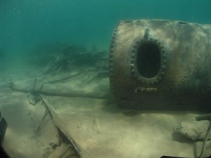 """Boiler on the Wreck on the Noque Bay"""